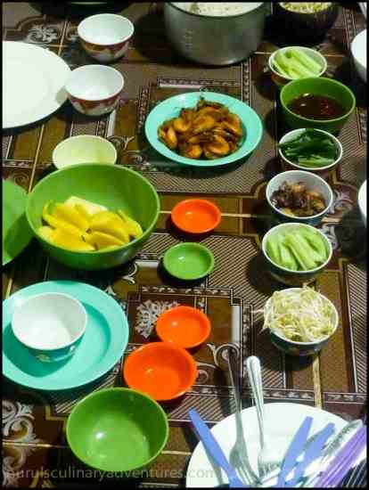dinner party at my home in cambodia