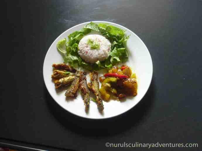 tengra biran, small fried bengali fish