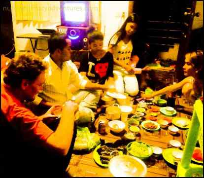 dinner party cambodia