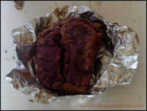 shrimp paste in foil