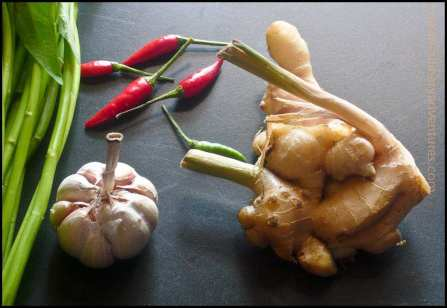 ginger, chilli, garlic
